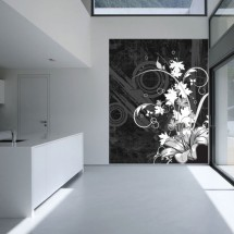 Wall Murals Flower B&W