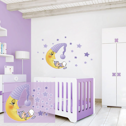 Baby On The Moon Pink