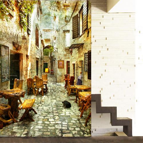 Wallpaper Old Street of Greece 2