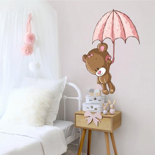 Bear With Umbrella Girls