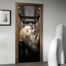 Rhino in elevator